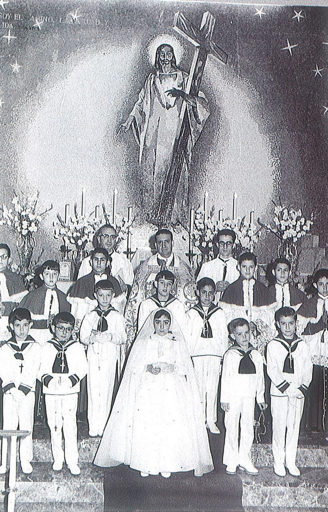 1ª Comunión. Años 50-60. P. Alfonso
